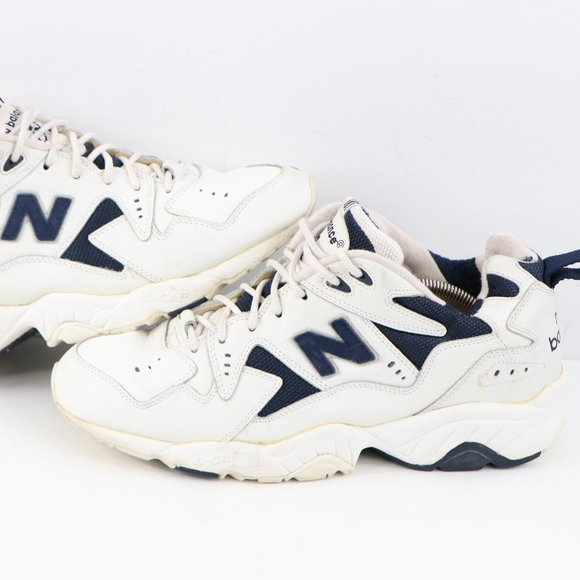 Vintage 90s New Balance 600 Dad Shoes White 12